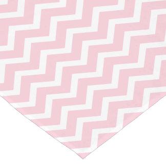 Caminho De Mesa Pequeno Corredor da mesa de Chevron | cor-de-rosa e branco