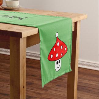 Caminho De Mesa Pequeno Corredor da mesa do cogumelo do chapéu do papai