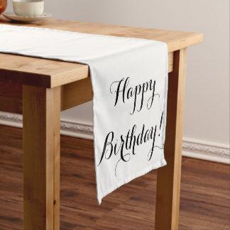 Caminho De Mesa Pequeno Corredor da mesa do feliz aniversario
