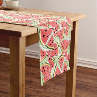 Caminho De Mesa Pequeno Corredor da mesa verde da melancia