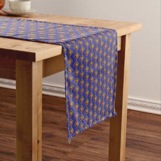Caminho De Mesa Pequeno Corredor geométrico do azul e da mesa do teste