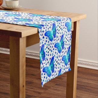 Caminho De Mesa Pequeno Corredor pintado mão da mesa de borboleta