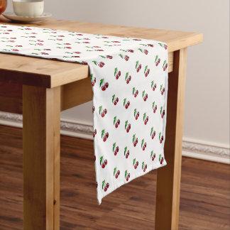 Caminho De Mesa Pequeno Corredor retro bonito da mesa de cozinha da cereja