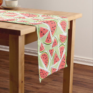 Caminho De Mesa Pequeno Corredor verde da mesa da melancia multi