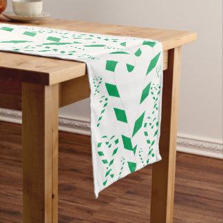 Caminho De Mesa Pequeno Corredor verde da mesa do bastão de doces do Natal