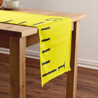 Caminho De Mesa Pequeno Fita métrica amarela gigante - corredor da mesa