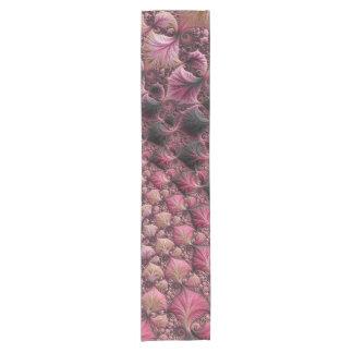 Caminho De Mesa Pequeno Fractal cor-de-rosa
