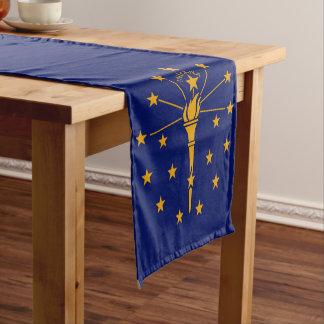 Caminho De Mesa Pequeno Gráfico dinâmico da bandeira do estado de Indiana