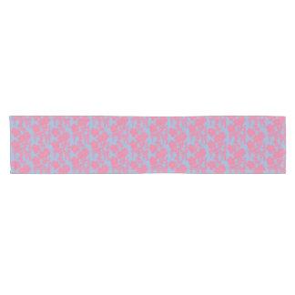 Caminho De Mesa Pequeno Impressão floral japonês - rosa & corredor roxo da