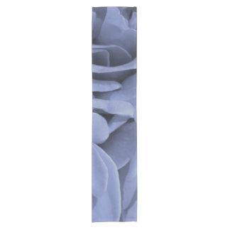 Caminho De Mesa Pequeno Luz delicada - os rosas das cinzas azuis florescem