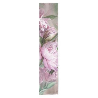 Caminho De Mesa Pequeno Peônias cor-de-rosa no corredor da mesa da arte do