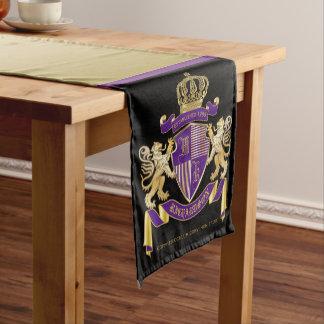 Caminho De Mesa Pequeno Protetor dourado do leão do emblema do monograma