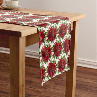 Caminho De Mesa Pequeno Rosa vermelha & azevinho do Corredor-Natal da mesa