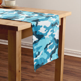 Caminho De Mesa Pequeno Teste padrão azul da camuflagem