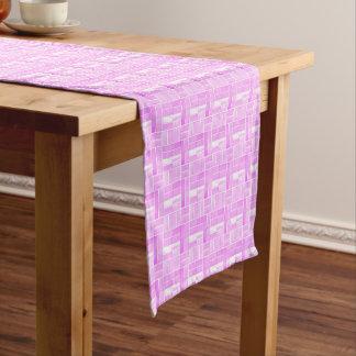 Caminho De Mesa Pequeno Teste padrão cor-de-rosa do olhar dos azulejos