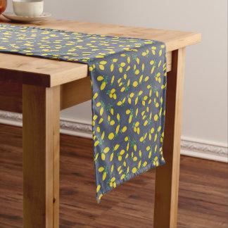 Caminho De Mesa Pequeno Teste padrão da arte da comida das gotas de limão