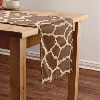 Caminho De Mesa Pequeno Teste padrão da pele do girafa de Brown