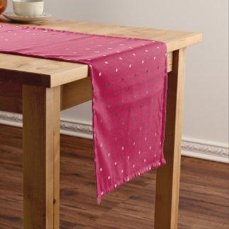 Caminho De Mesa Pequeno teste padrão de bolinhas cor-de-rosa do rosa do
