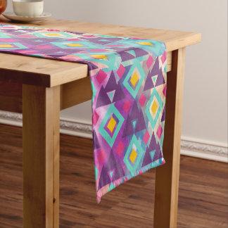 Caminho De Mesa Pequeno Teste padrão vibrante colorido do batik do boho da