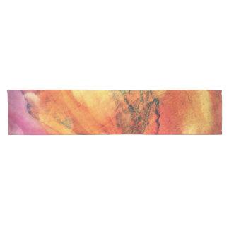 Caminho De Mesa Pequeno Uma folha no abstrato de madeira da arte do outono