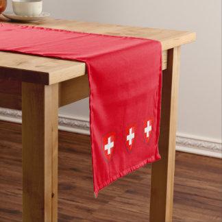 Caminho De Mesa Pequeno Vermelho suíço da bandeira da brasão da suiça