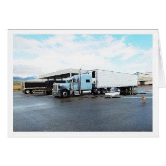 Caminhões Cartão Comemorativo