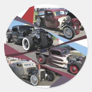 Caminhões de Rod do rato Adesivo Em Formato Redondo
