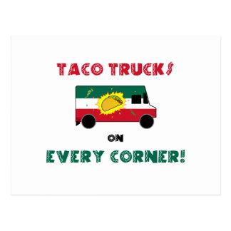 Caminhões do Taco em cada canto Cartão Postal