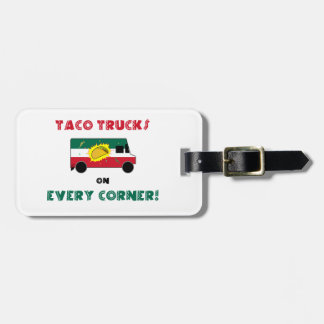 Caminhões do Taco em cada canto Etiqueta De Mala