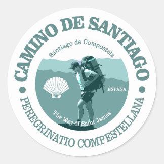 Camino de Santiago Adesivo Redondo