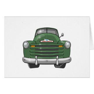 Camionete 1948 de Chevrolet Cartão Comemorativo