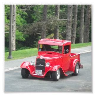 Camionete antigo clássico do vermelho de v8 foto arte