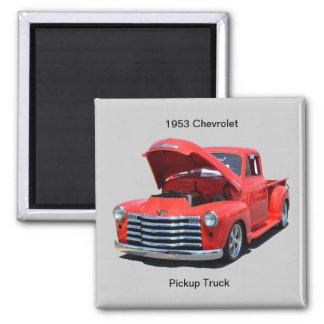Camionete clássico de Chevrolet dos anos 50 Ímã Quadrado