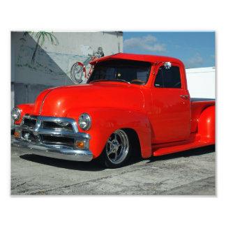 Camionete personalizado vermelho impressão de foto