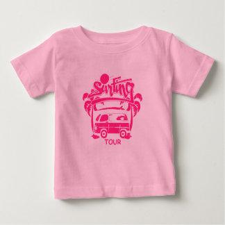 Camionete surfando da excursão camiseta para bebê