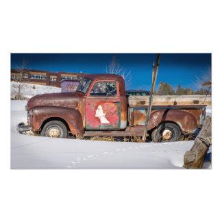 Camionete velho Leadville Colorado Impressão De Foto