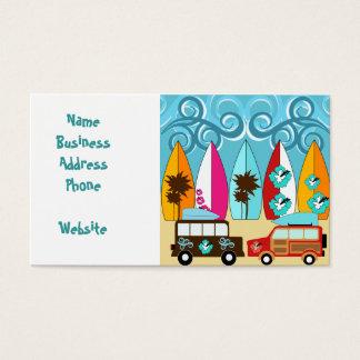 Camionetes surfando do Hippie do vagabundo da Cartão De Visitas