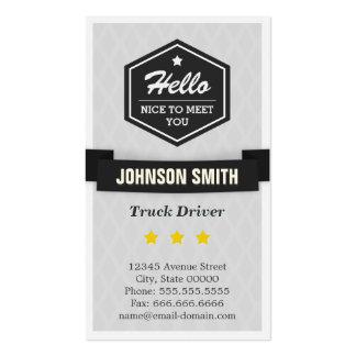 Camionista - diga olá! no estilo retro cartão de visita