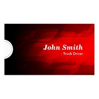 Camionista - obscuridade moderna - vermelho cartão de visita