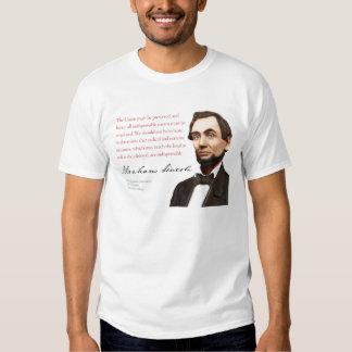 """Camisa #13 de Abraham Lincoln """"não radical ou T-shirt"""