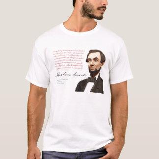 """Camisa #16 de Abraham Lincoln """"um mercado livre"""