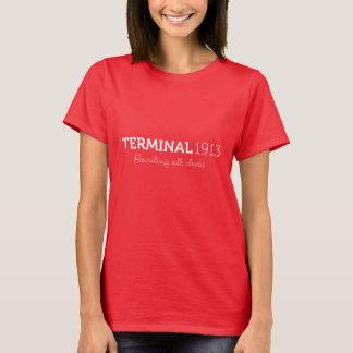 Camiseta Camisa 1913 do terminal no vermelho