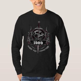 Camisa 1989 do vintage do presente de aniversário