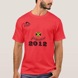 Camisa 2012 vermelha de Jamaica T