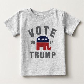 Camisa 2016 do trunfo do voto do vintage do bebê tshirts