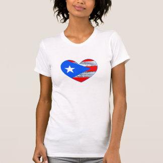 Camisa 2017 do coração da bandeira de Maria Puerto