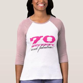 camisa | 70 do aniversário do 70 e fabuloso! t-shirts