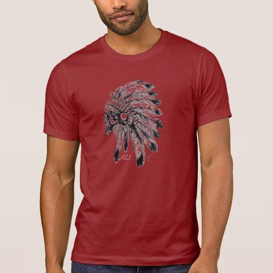 Camisa A&J vermelha indio caveira