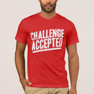 Camisa aceitada desafio