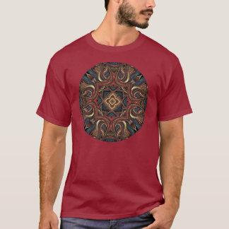 Camisa acrílica da arte da mandala da visão